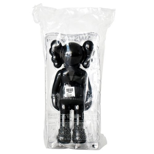 kaws companion black in sealed package from behind