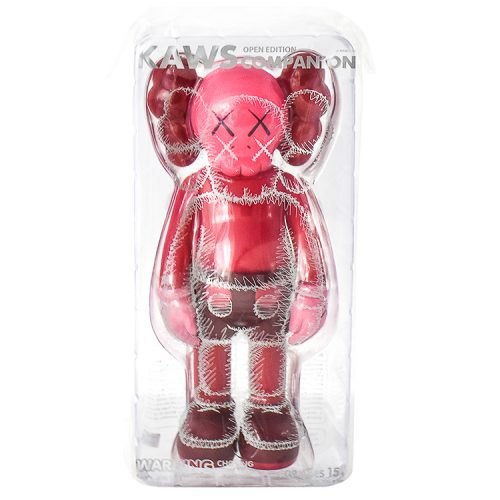 kaws companion blush in sealed package from front