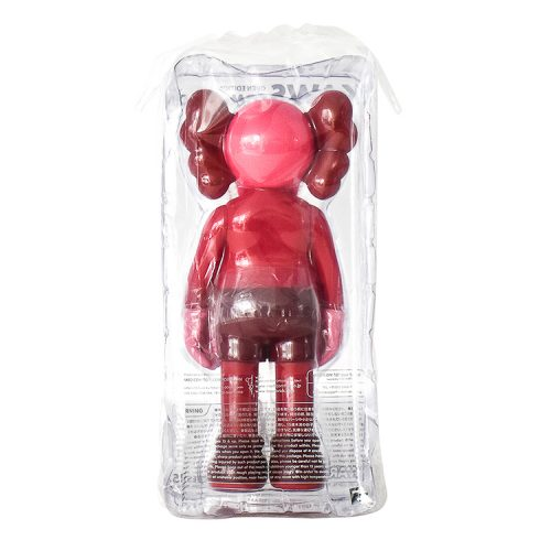 kaws companion blush in sealed package from back