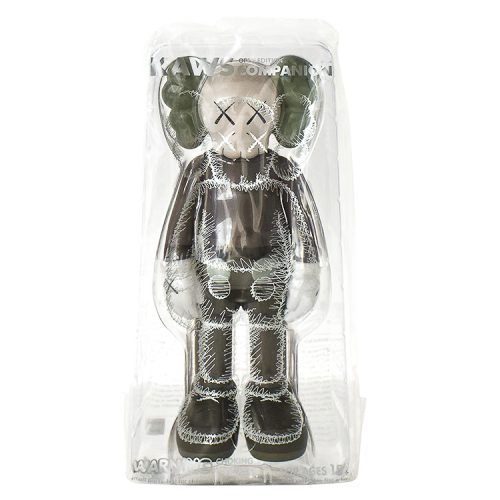 kaws companion brown in sealed package from front