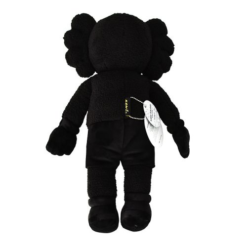 kaws holiday hong kong black plush from behind with tags