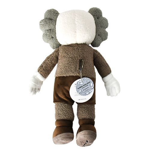 kaws holiday hong kong brown plush from behind with tags