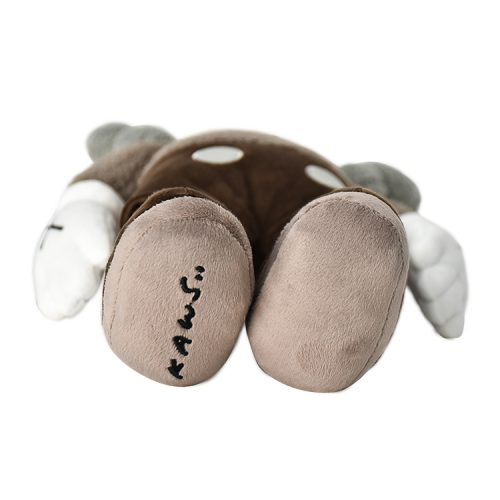 kaws holiday hong kong brown plush feet with kaws signature