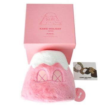 kaws mount fuji pink with box and card