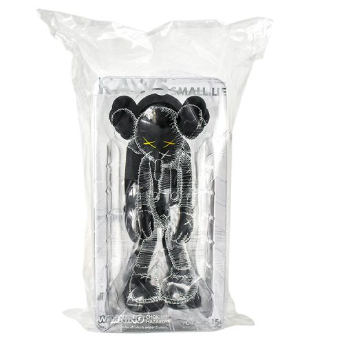 kaws small lie black in sealed package from front