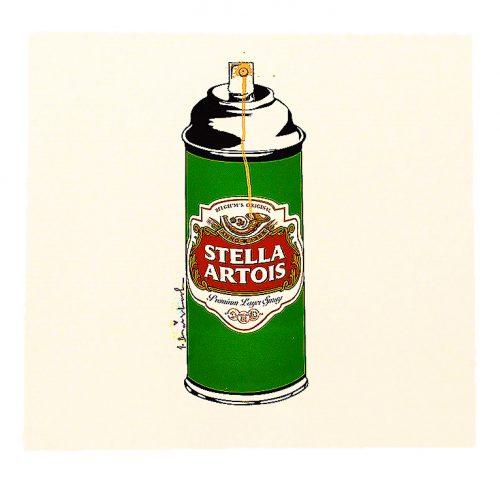 mr brainwash stella spray can print