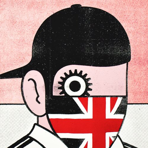 paul insect clockwork britain print close up detail of middle