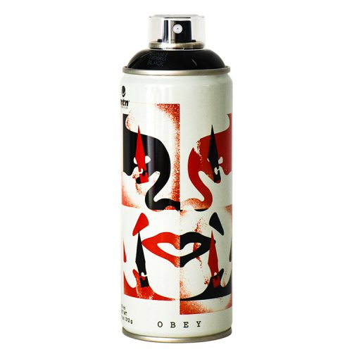 shepard fairey cut it up spray can from front view