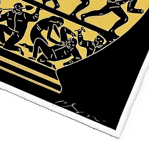 cleon peterson trump black and gold screenprint showing cleon peterson signature on bottom right of print
