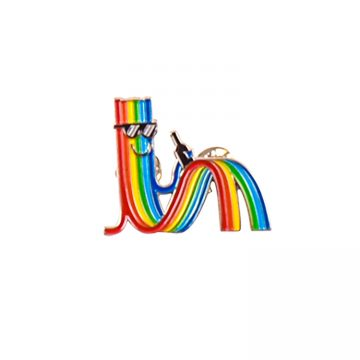 paul insect pin rainbow guy