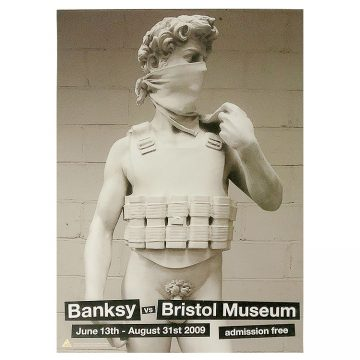 banksy david poster from banksy vs bristol museum show