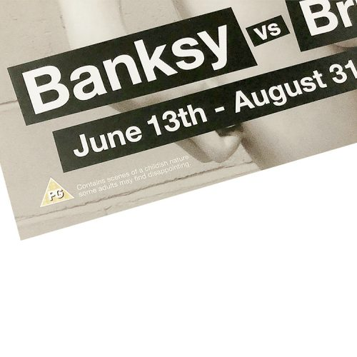 banksy david poster showing bottom left with show dates and banksy text