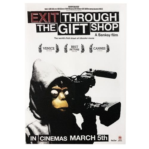 banksy forgive us our trespassing reverse side with exit through the gift shop movie poster