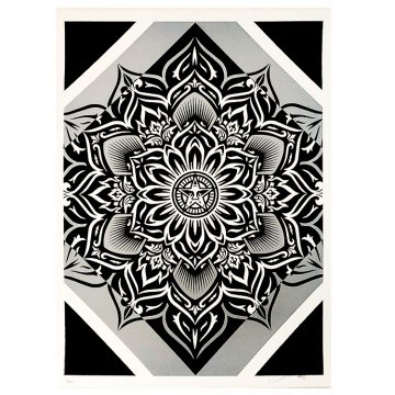 shepard fairey lotus diamond print