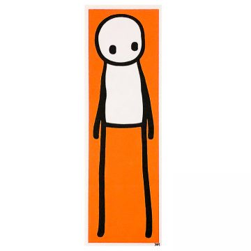 stik standing figure orange print