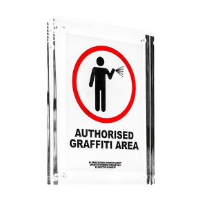 AUTHORISED GRAFFITI AREA 016/BNK/5Y STICKER (Framed)
