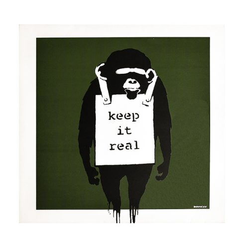 banksy keep it real laugh now vinyl album showing keep it real cover side