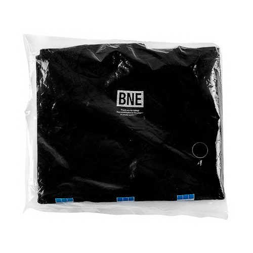 invader bne t shirt black showing top of shirt with bne tag