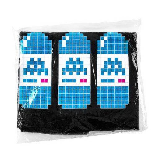 showing invader bne t shirt black details with water bottles in sealed package
