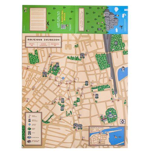 showing invader ravenna map unfolded