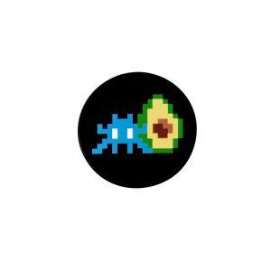 SPACE AVOCADO PIN (Black)