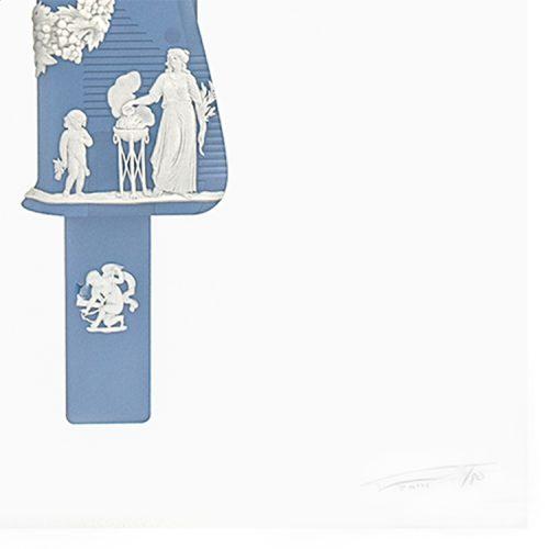 magnus gjoen uzi in pompeii blue showing bottom right of print with magnus gjoen signature in pencil