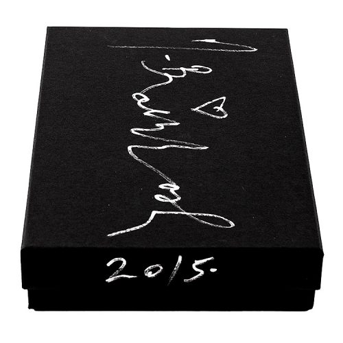 showing mr brainwash life is beautiful sculpture box with mr brainwash signature and year
