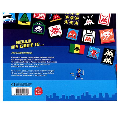invader hello my gamme is book from back
