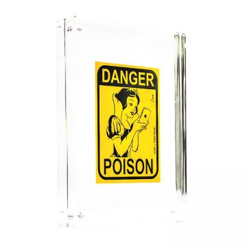 zedsy poison apple sticker in clear frame