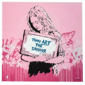 zedsy saviour print artist proof hand embellished
