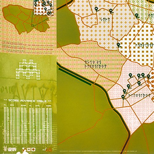 invader sao paulo signed map showing left side detail of map