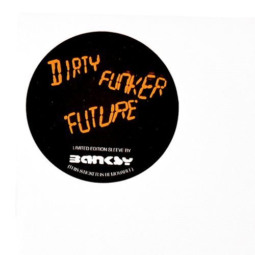 banksy dirty funker radar rat orange vinyl record showing limited edition label