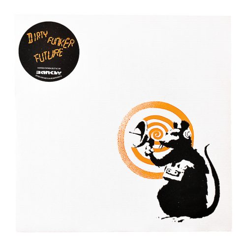 banksy dirty funker radar rat orange vinyl record front cover