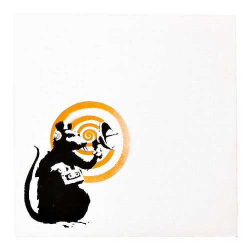 banksy dirty funker radar rat orange vinyl record back cover