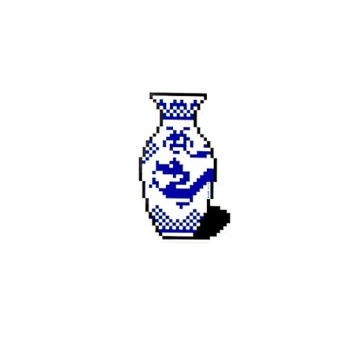 invader vase sticker