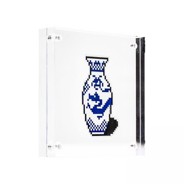 invader vase sticker inclear scrylic block frame