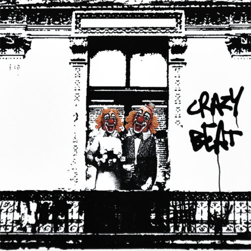 blur crazy beat promo cd showing middle detail with clown couple