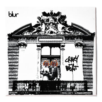 blur crazy beat promo cd front cover