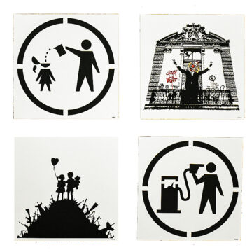banksy blur think tank special edition showing all included cards