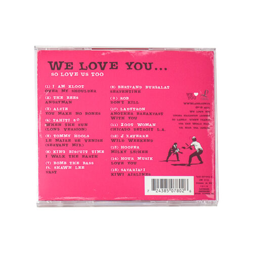 banksy we love you so love us too cd showing back cover