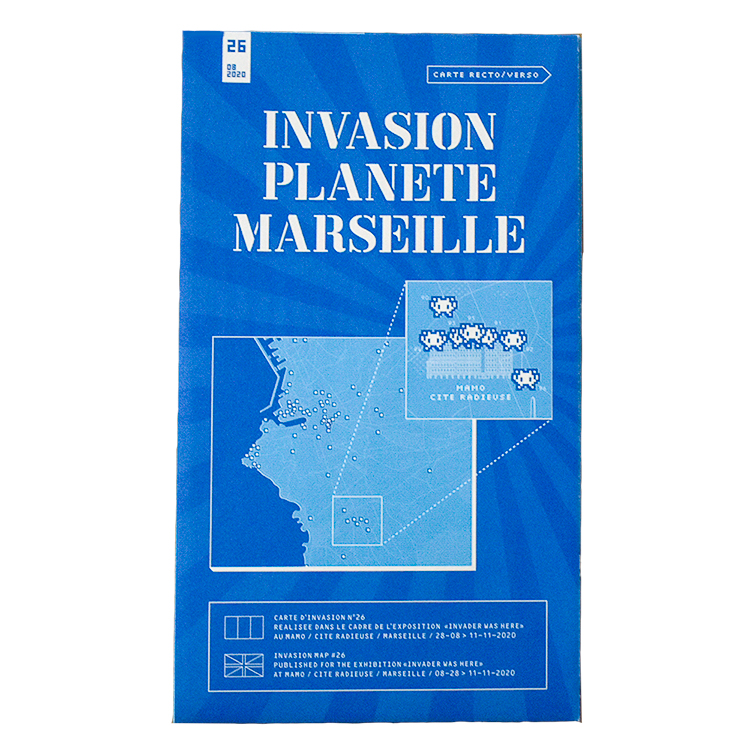INVASION PLANETE MARSEILLE (MARSEILLE MAP Folded)