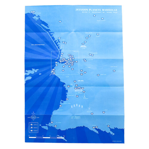 invader marseille map showing opened back