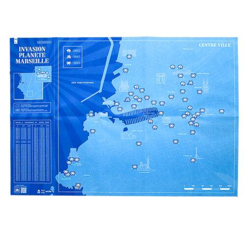 invader marseille map showing opened front with invader locations