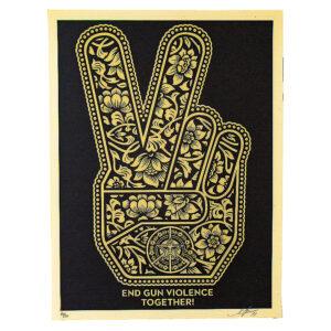 END GUN VIOLENCE TOGETHER Peace Fingers
