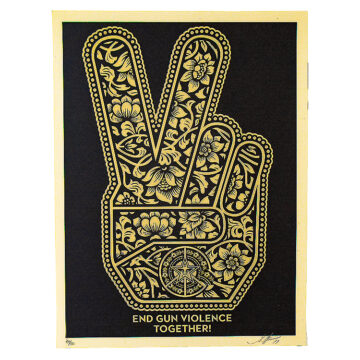 shepard fairey end gun violence together print