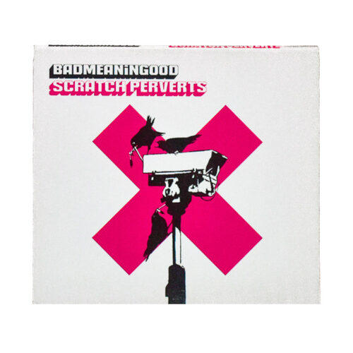 banksy badmeaningood scratch perverts cd front cover
