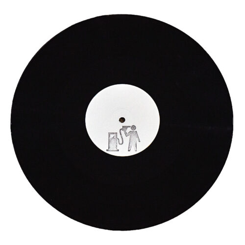 banksy blur crazy beat promo hand stamped vinyl record showing vinyl side with petrolhead stamp