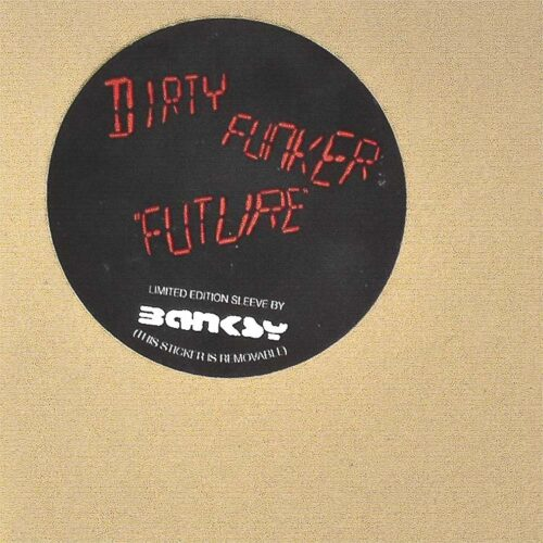 banksy dirty funker radar rat brown limited edition label
