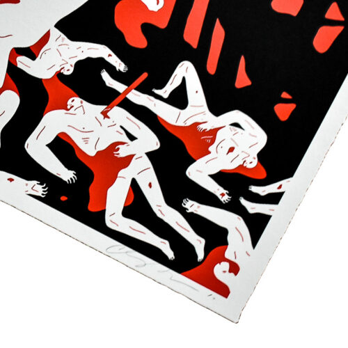 cleon peterson victory red print showing bottom right with cleon signature