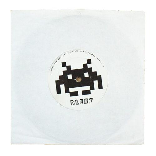 invader crash alert vinyl record back cover